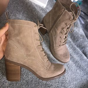 Shoes - suade heel boots